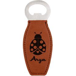Ladybugs & Gingham Leatherette Bottle Opener (Personalized)