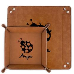 Ladybugs & Gingham Faux Leather Valet Tray (Personalized)