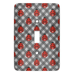 Ladybugs & Gingham Light Switch Covers - Multiple Toggle Options Available (Personalized)