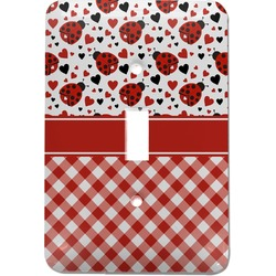 Ladybugs & Gingham Light Switch Cover (Single Toggle) (Personalized)