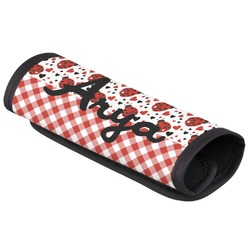 Ladybugs & Gingham Luggage Handle Cover (Personalized)
