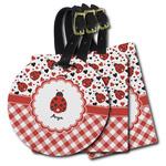 Ladybugs & Gingham Plastic Luggage Tags (Personalized)