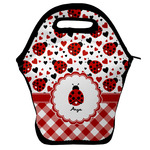 Ladybugs & Gingham Lunch Bag w/ Name or Text