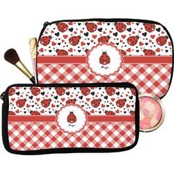Ladybugs & Gingham Makeup / Cosmetic Bag (Personalized)