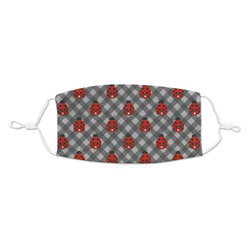 Ladybugs & Gingham Kid's Cloth Face Mask (Personalized)