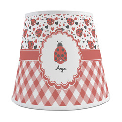 Ladybugs & Gingham Empire Lamp Shade (Personalized)