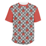 Ladybugs & Gingham Men's Crew T-Shirt (Personalized)