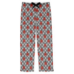 Ladybugs & Gingham Mens Pajama Pants (Personalized)