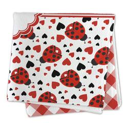 Ladybugs & Gingham Microfiber Dish Rag (Personalized)