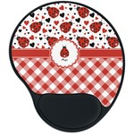 Ladybugs & Gingham Mouse Pad with Wrist Support