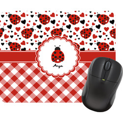 Ladybugs & Gingham Mouse Pad (Personalized)