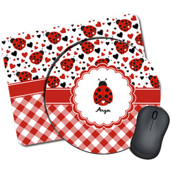 Ladybugs & Gingham Mouse Pads (Personalized)