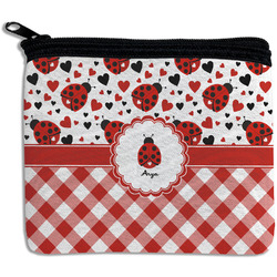 Ladybugs & Gingham Rectangular Coin Purse (Personalized)