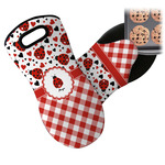 Ladybugs & Gingham Neoprene Oven Mitt (Personalized)