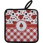 Ladybugs & Gingham Pot Holder (Personalized)