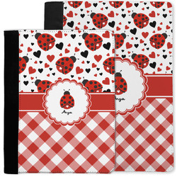Ladybugs & Gingham Notebook Padfolio w/ Name or Text