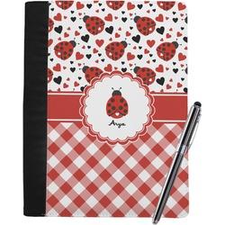 Ladybugs & Gingham Notebook Padfolio (Personalized)