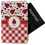 Ladybugs & Gingham Passport Holder - Fabric (Personalized)