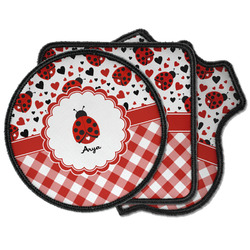 Ladybugs & Gingham Iron on Patches (Personalized)