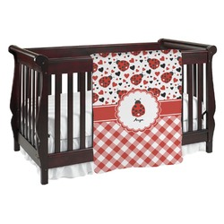 Ladybugs & Gingham Baby Blanket (Personalized)