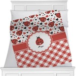 Ladybugs & Gingham Minky Blanket (Personalized)