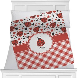 Ladybugs & Gingham Blanket (Personalized)