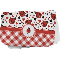 Ladybugs & Gingham Burp Cloth (Personalized)