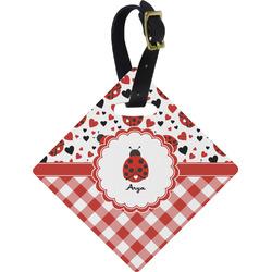 Ladybugs & Gingham Diamond Luggage Tag (Personalized)