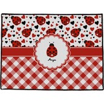 Ladybugs & Gingham Door Mat (Personalized)