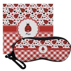 Ladybugs & Gingham Eyeglass Case & Cloth (Personalized)