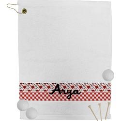 Ladybugs & Gingham Golf Towel (Personalized)