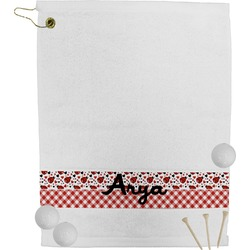 Ladybugs & Gingham Golf Towel (Personalized)