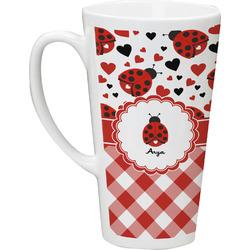 Ladybugs & Gingham Latte Mug (Personalized)