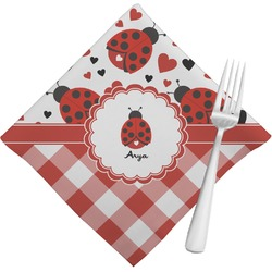 Ladybugs & Gingham Napkins (Set of 4) (Personalized)