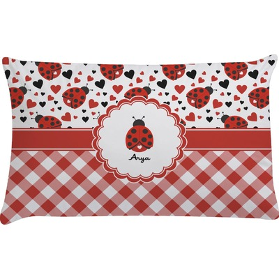 Ladybugs & Gingham Pillow Case (Personalized)