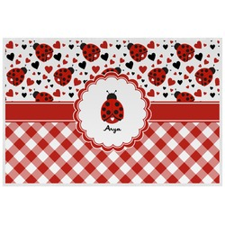 Ladybugs & Gingham Placemat (Laminated) (Personalized)