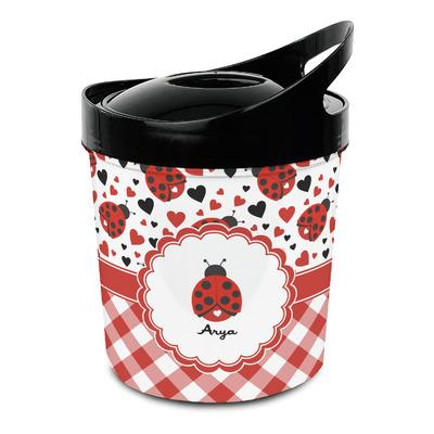 Ladybugs & Gingham Plastic Ice Bucket (Personalized)