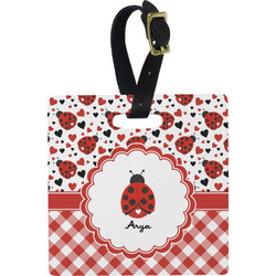 Ladybugs & Gingham Luggage Tags (Personalized)