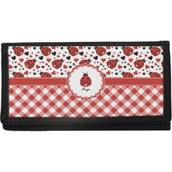 Ladybugs & Gingham Canvas Checkbook Cover (Personalized)
