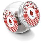 Ladybugs & Gingham Puppy Treat Jar (Personalized)