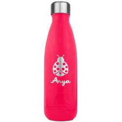 Ladybugs & Gingham RTIC Bottle - 17 oz. Pink (Personalized)