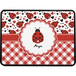 "Ladybugs & Gingham Rectangular Trailer Hitch Cover - 2"" (Personalized)"