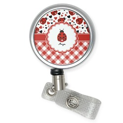 Ladybugs & Gingham Retractable Badge Reel (Personalized)