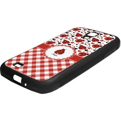 Ladybugs & Gingham Rubber Samsung Galaxy 4 Phone Case (Personalized)