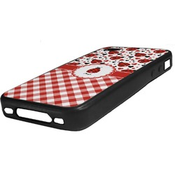 Ladybugs & Gingham Rubber iPhone Case 4/4S (Personalized)