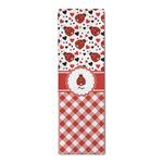 Ladybugs & Gingham Runner Rug - 3.66'x8' (Personalized)