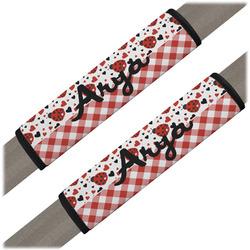 Ladybugs & Gingham Seat Belt Covers (Set of 2) (Personalized)