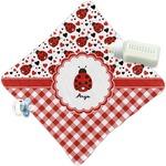 Ladybugs & Gingham Security Blanket (Personalized)