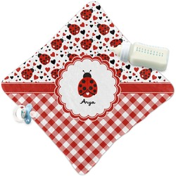 Ladybugs & Gingham Security Blanket (Personalized)