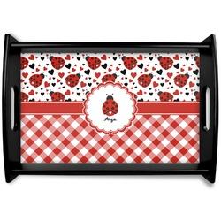 Ladybugs & Gingham Wooden Trays (Personalized)